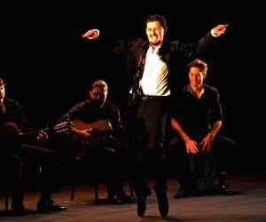 Flamenco dancer of Spain Ramon Martinez Rama performs