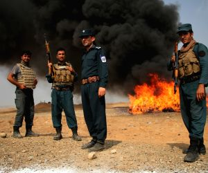 AFGHANISTAN-NANGARHAR-BURN-DRUG SEIZED