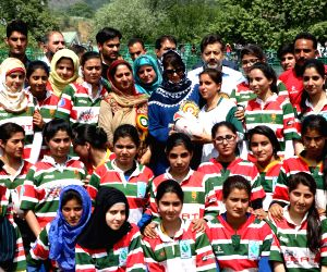 Mehbooba Mufti meets deaf and dumb girl football and basket ball players