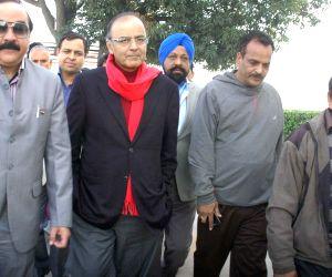 Arun Jaitley during his visit to Jammu