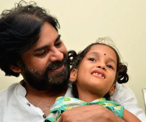 Pawan Kalyan plays with kids