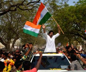 Pawan Kalyan during an election campaign