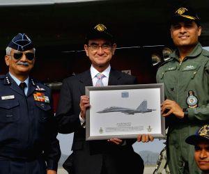 Japanese Defence Minister visits Indian Air Force Base at Hindan