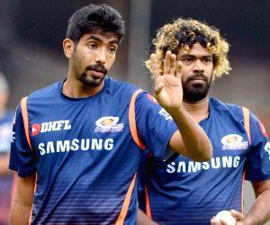 Jasprit Bumrah and Lasith Malinga. (File Photo: IANS)