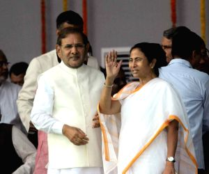Swearing-in ceremony of the new JD-U-RJD-Congress coalition government