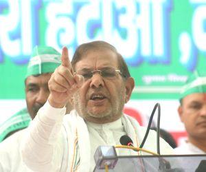 JD (U) in demonstration against Modi Govt