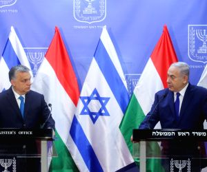 MIDEAST JERUSALEM HUNGARY PM PRESS CONFERENCE