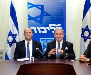 ISRAEL-NEW COALITION-PRESS CONFERENCE