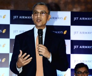 Jet Airways CEO Vinay Dube addresses a press conference in Guwahati on March 26, 2018.
