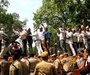 Jewellers' demonstration outside BJP headquarters
