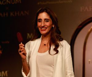 Launch of the Magnum X ice cream - Farah Khan Ali