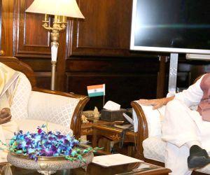 Jharkhand Governor Draupadi Murmu meets Rajnath Singh