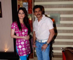 Jimmy Shergill and Hazel on the sets of Sony's Aahat  Malad.