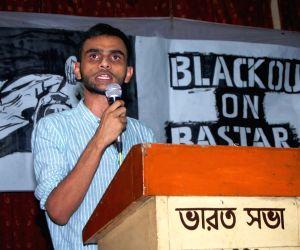Umar Khalid during a programme