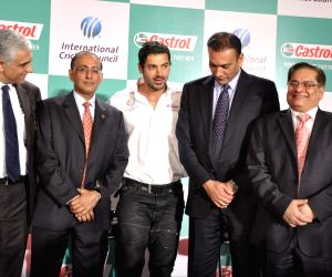 John Abraham at Castrol-ICC World Cup Event at Mumbai.