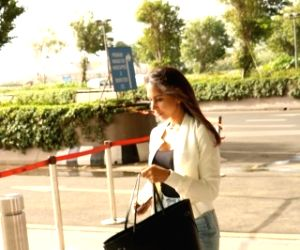 Priya Runchal spotted at Mumbai Airport