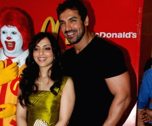 John and Pakhi at McDonalds to promote Jhootha Hi Sahi.