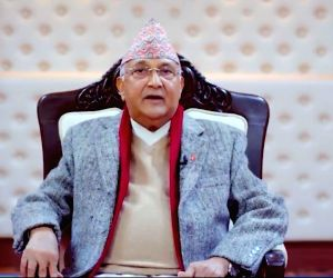 Back-to-back high level meetings at Nepal PM's residence
