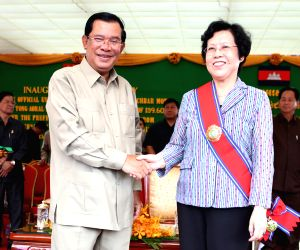 CAMBODIA KAMPONG SPEU NATIONAL ROAD INAUGURATION