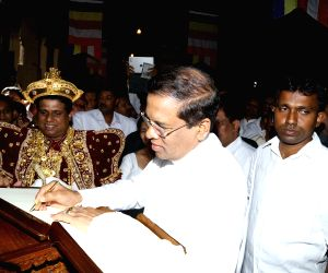 SRI LANKA-KANDY-NEW PRESIDENT-TEMPLE OF TOOTH