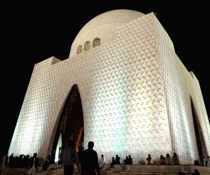 Photo taken on Dec. 27, 2013 shows the mausoleum of the founder of Pakistan Quaid-e-Azam Muhammad Ali Jinnah