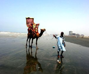 Clifton beach in Karachi