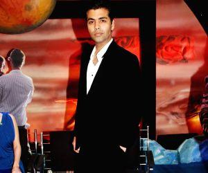 Karan Johar and Dia Mirza promote Panasonic 3-D cameras and LCD at Yashraj.