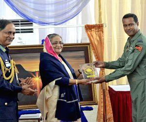 Bangladesh PM visits Kurmitola Bangabandhu Airport
