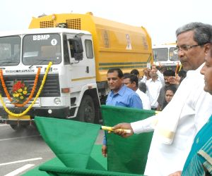 Karnataka CM flags of sweeping machines