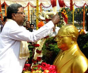 Siddaramaiah pays tribute to Ambedkar
