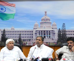 Siddaramiah during a meeting