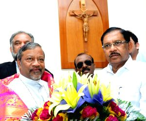 Karnataka Deputy CM Parameshwara meets Archbishop of Bengaluru