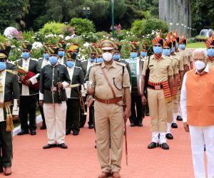 Karnataka Governor hoists the tricolor at Raj Bhavan on 74th Independence Day