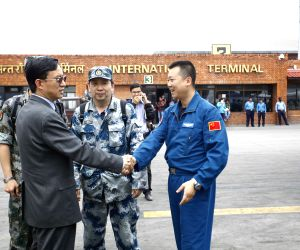 NEPAL KATHMANDU EARTHQUAKE CHINA AIR FORCE AID