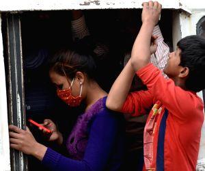 NEPAL KATHMANDU QUAKE EVACUATION