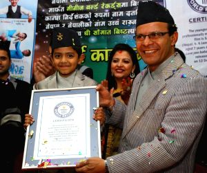 NEPAL-KATHMANDU-GUINNESS WORLD RECORDS-YOUNGEST MOVIE DIRECTOR