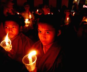 NEPAL KATHMANDU EARTHQUAKE AFTERMATH CANDLE LIGHT VIGIL