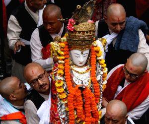 NEPAL-KATHMANDU-SETO MACHHINDRANATH CHARIOT FESTIVAL