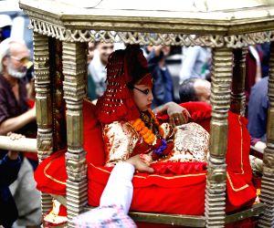 NEPAL KATHMANDU SETO MACHHINDRANATH CHARIOT FESTIVAL