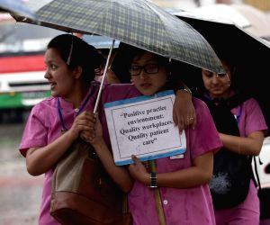 NEPAL KATHMANDU INT'L NURSES DAY RALLY