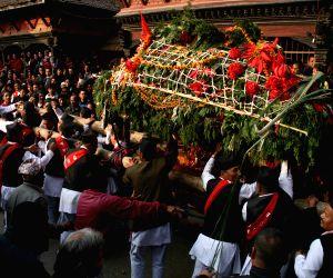 Kathmandu (Nepal): Devotees attending the Indrayani Festival in Kirtipur