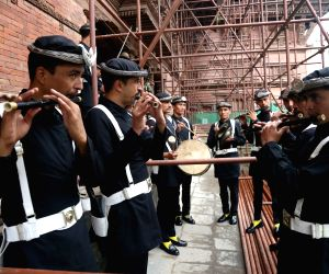 NEPAL-KATHMANDU-DASHAIN FESTIVAL-GHATASTHAPANA