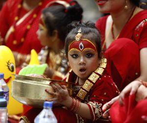NEPAL-KATHMANDU-INDRAJATRA FESTIVAL-KUMARI PUJA