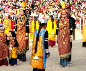 Khasi children Nongkrem dance festival