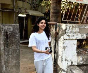 Khushi Kapoor, daughter of producer Boney Kapoor and late actress Sridevi in Mumbai's Juhu , on March 7, 2019.