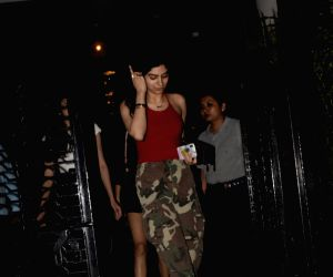 Khushi Kapoor, daughter of producer Boney Kapoor and late actress Sridevi seen outside a club in Mumbai's Bandra, on March 7, 2019.