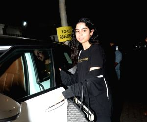 Khushi Kapoor, daughter of producer Boney Kapoor and late actress Sridevi seen outside her step-brother Arjun Kapoor's house in Mumbai, on July 22, 2019.