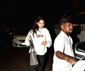 Khushi Kapoor, daughter of producer Boney Kapoor and late actress Sridevi seen at Bandra in Mumbai, on July 23, 2019.