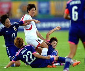 CHINA-WUHAN-FOOTBALL-EAFF WOMEN'S EAST ASIAN CUP 2015-JAPAN VS DPRK