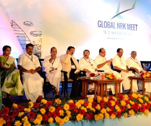 Kerala CM at the inauguration of Global NRK meet